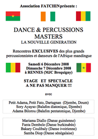 Stage de Danse Africaine  avec l'association FATCHIN